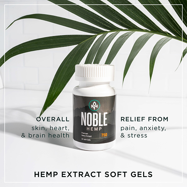 Noble Hemp CBD Soft Gels