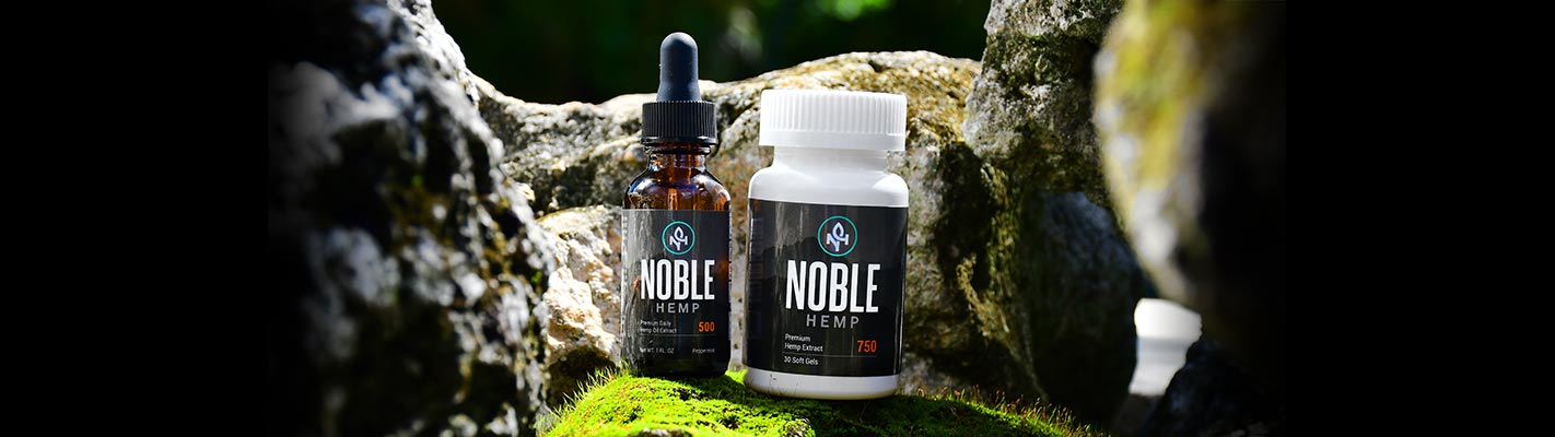 Noble Hemp 500 Tincture and Gel Capsule 750
